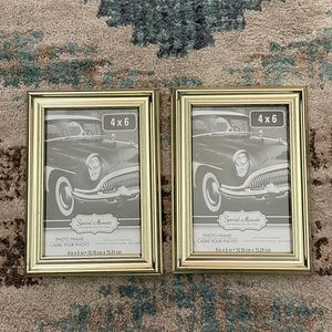 Gold Picture frames (2) 4x6